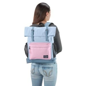 "HP | Ivory Ella 16"" Rollover Backpack Blue/Magenta"